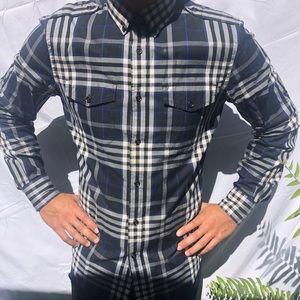 Express plaid long sleeve dress shirt